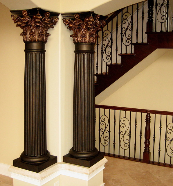Handpainted Metallic Columns