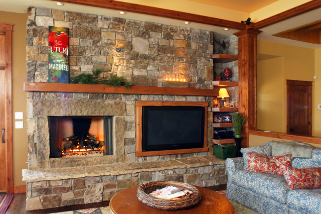 Harrison Idaho rustic-family-room