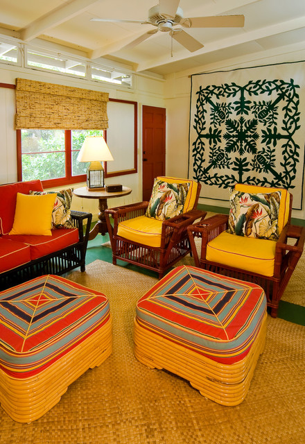 Hawaiian cottage style tropical family room hawaii for Designing interiors inc