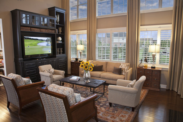 Hawthorn Woods Columbia Family Room contemporary-family-room