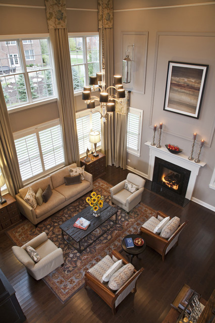 Hawthorn woods columbia living room for 2 story living room decorating ideas