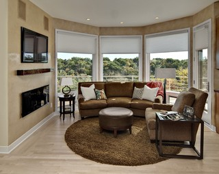 Hearth room contemporary family room minneapolis for Hearth room furniture layout ideas