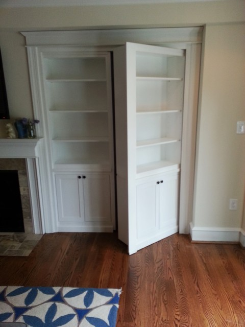 Hidden Bookcase Door - Traditional - Family Room ...