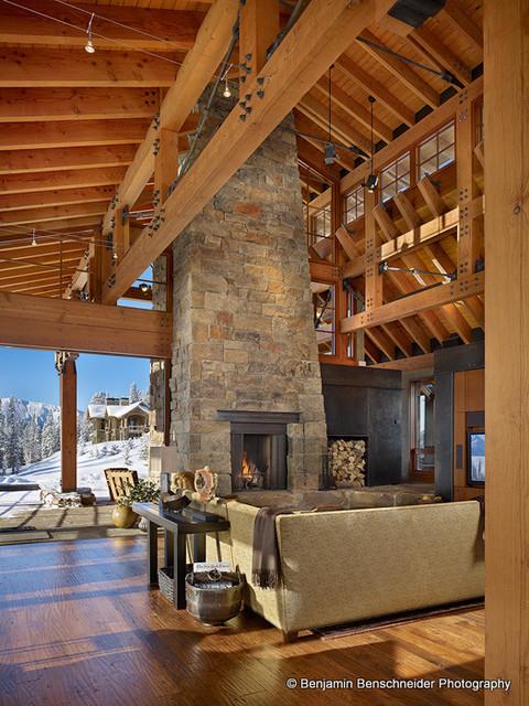 High Fire Contemporary Family Room Denver By