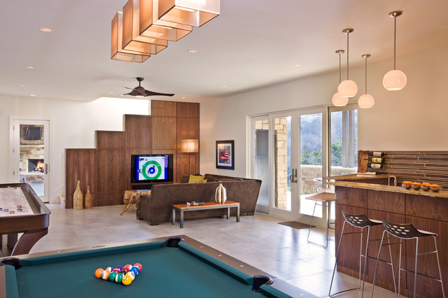 Hill Country Contemporary contemporary-family-room