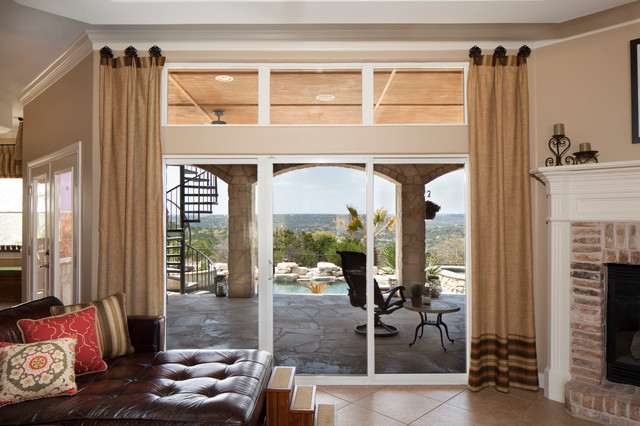 Hill Country Drapes And Pillows Transitional Family Room Austin By Draped