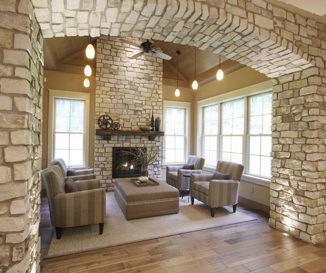 Hillside Home transitional-family-room