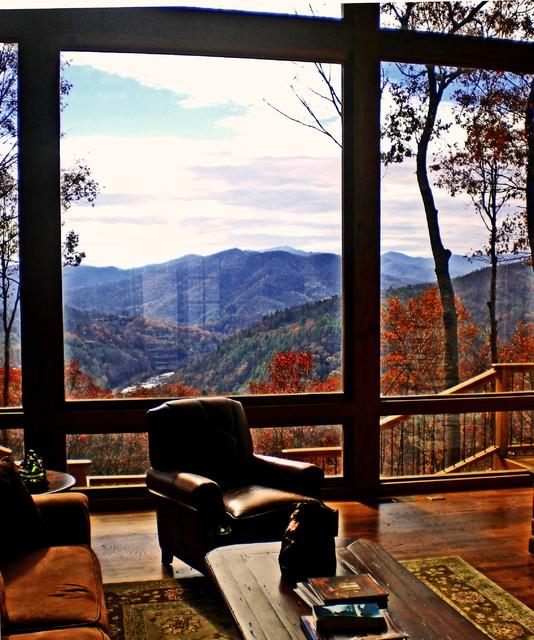 Hilltop Mountain House - Asheville NC family-room