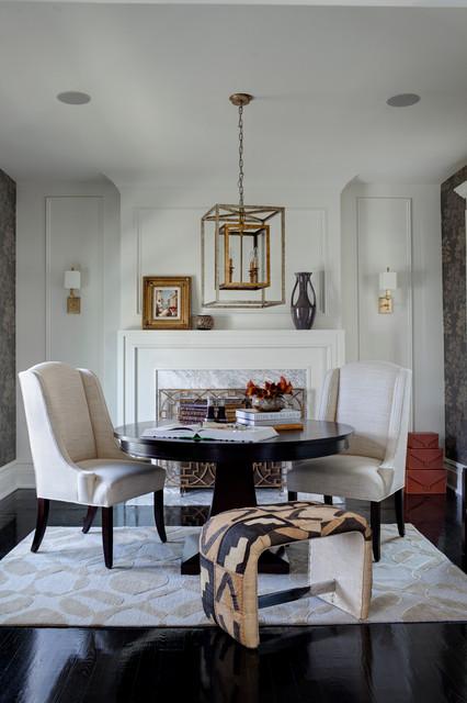 Hinsdale Greek Revival transitional-family-room