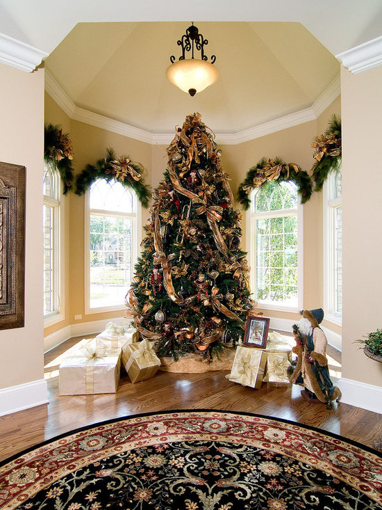Christmas Decoration Ideas With Ribbon : Ribbon on christmas tree design ideas pictures remodel