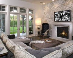 Hollywood Chic Living Room eclectic family room
