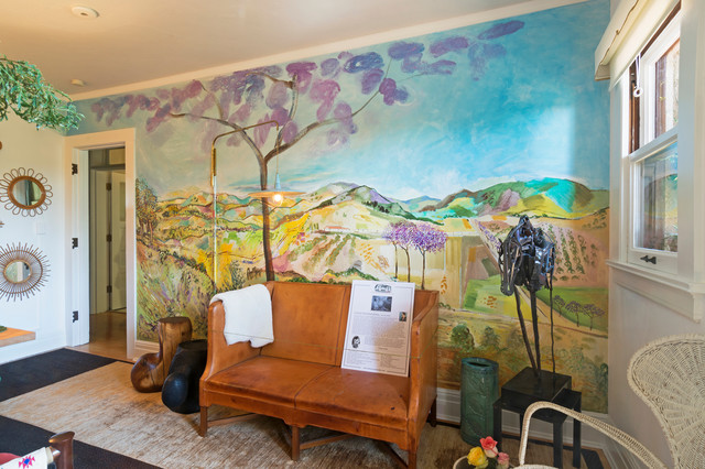 Hollywood Glamour at the 2016 Wattles Mansion Showcase House mediterranean-family-room