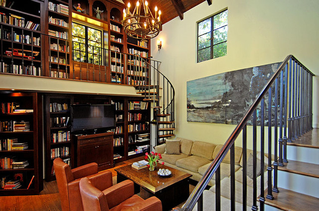 HOLLYWOOD HILLS HOME traditional media room