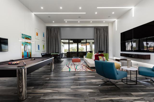 Family room - contemporary family room idea in Orlando