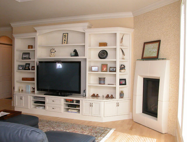 Home Entertainment Cabinetry Traditional Living Room