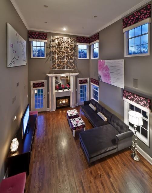 Home in East Setauket eclectic-family-room