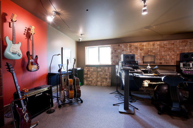 Home Music Studio Eclectic Family Room Minneapolis