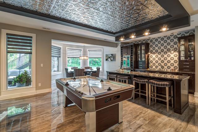 Homearama 2016 Transitional Home Bar Cincinnati By Debbie Sykes