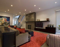 Honore-Contemporary Family Room contemporary family room