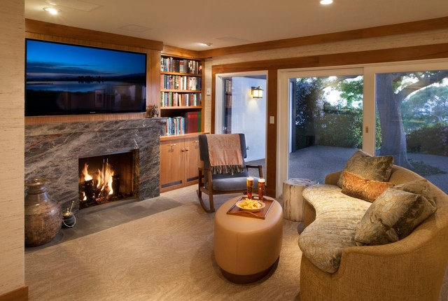 Hope Ranch Residence contemporary-family-room