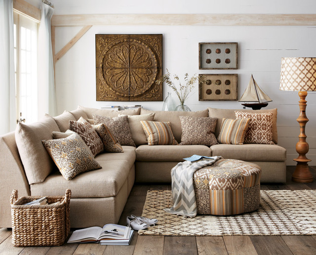 Horchow eclectic-family-room