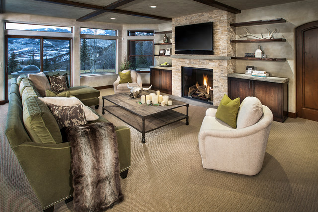 Horse Ranch Contemporary Family Room Denver By