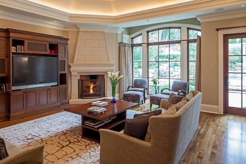 How To Arrange Furniture Around A Corner Fireplace
