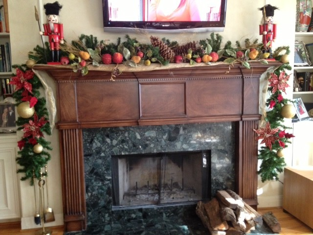 How To Decorate A Christmas Mantle Traditional Family