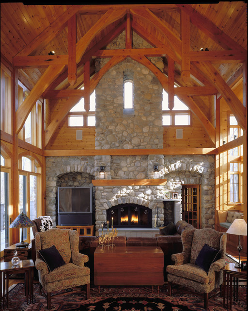 Hunt Country-family fireplace eclectic-family-room
