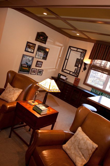 Huntersville Man Cave Traditional Family Room