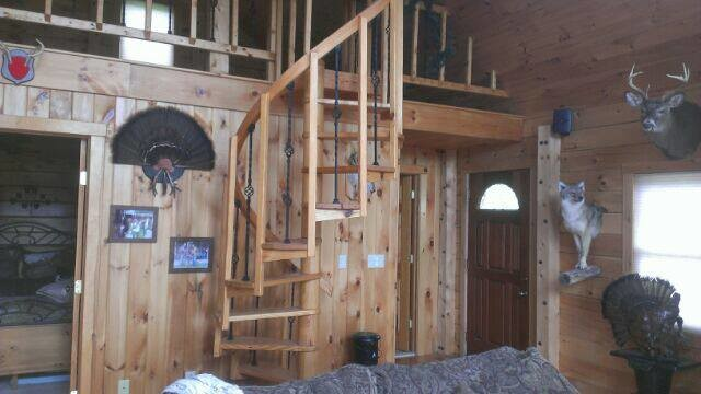 Hunting log cabin stanford ny eclectic family room for Hunting cabin interior designs