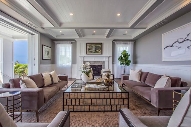 Huntington Estate Homes - Transitional - Family Room - los angeles ...
