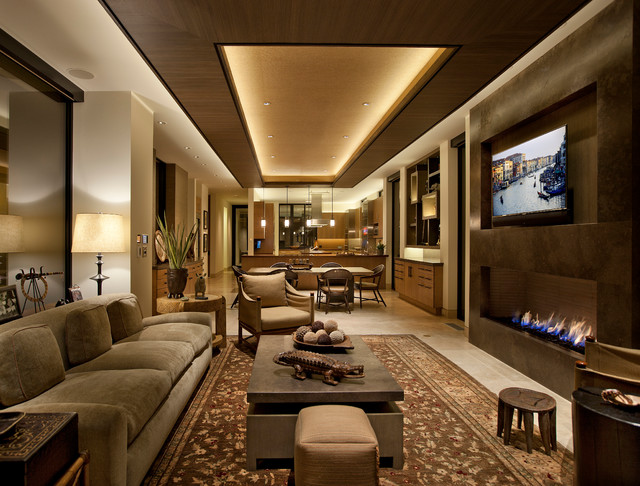 Indian wells residence contemporary family room for Super modern living room