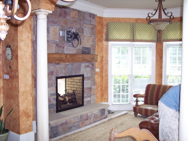 Kolby Construction Charlotte: Indoor/Outdoor Fireplace