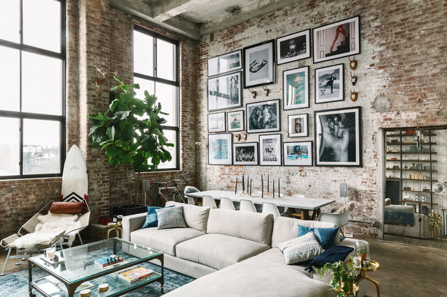 Industrial Brooklyn Loft industrial-family-room