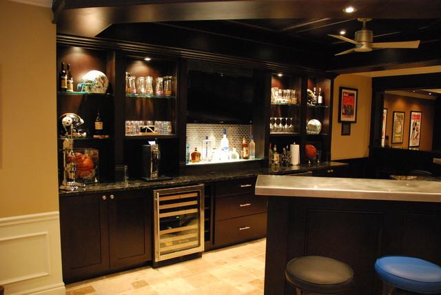 ingrahim basement remodeling traditional family room