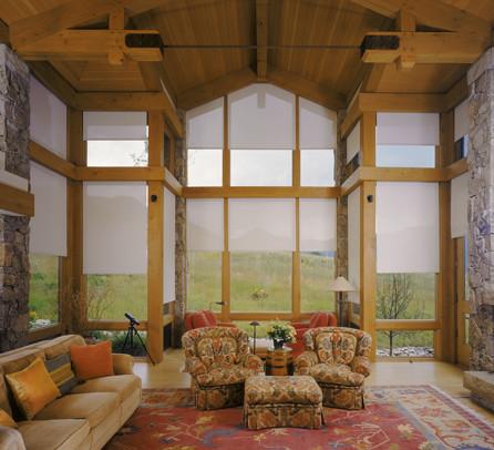 Insolroll Interior Solar Shade Modern Family Room Denver By Insolroll Window Shading