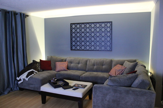 led accent lighting living room wall wash contemporary family room