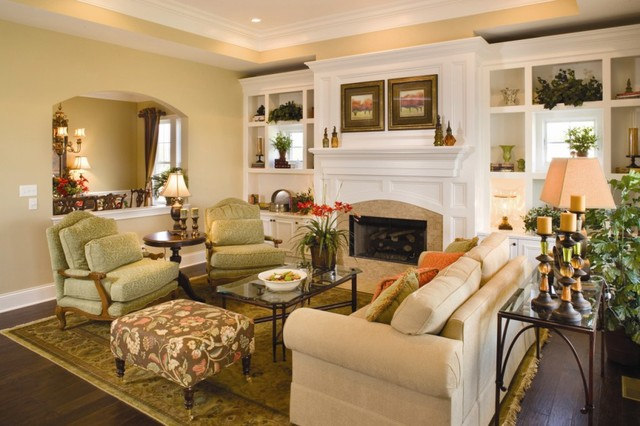 Interior traditional family room