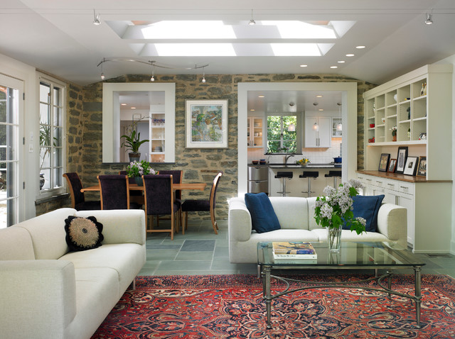Sunroom and mudroom additions with new kitchen eclectic for Sunroom off kitchen design ideas