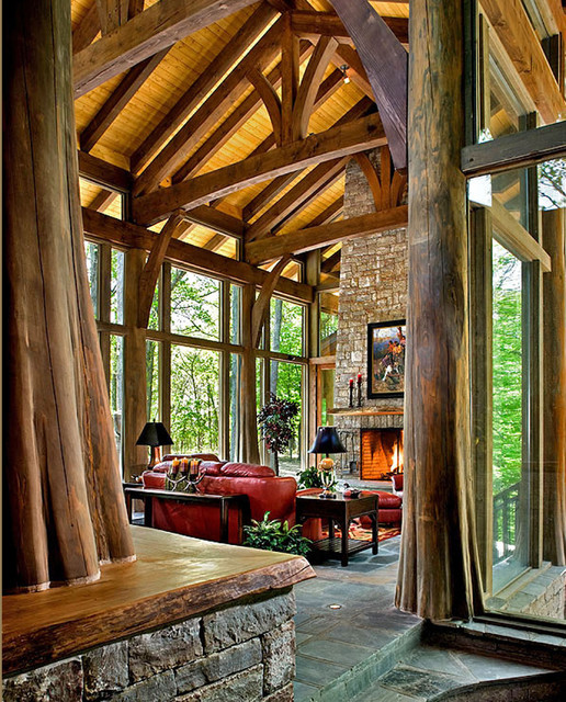 Interior of Tree House eclectic family room