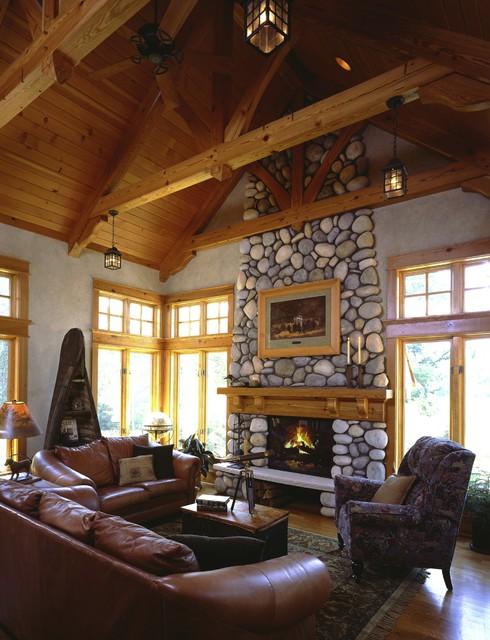 Interiors rustic-family-room