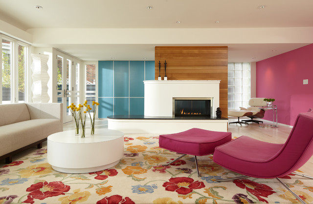 International Style Modern Family Room Minneapolis