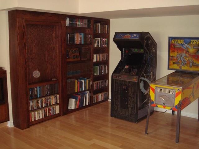 Invisidoor Hidden Door Bookcase Family Room By Custom