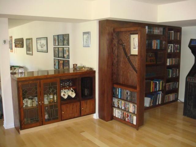 InvisiDoor Hidden Door Bookcase - Family Room - by Custom Service Hardware, Inc