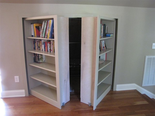 Invisidoor Hidden Door Bookcase traditional-family-room - Invisidoor Hidden Door Bookcase - Traditional - Family Room
