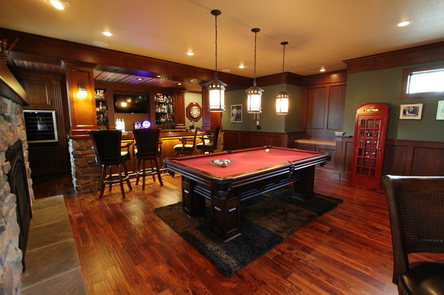 Irish Pub Addition Traditional Family Room