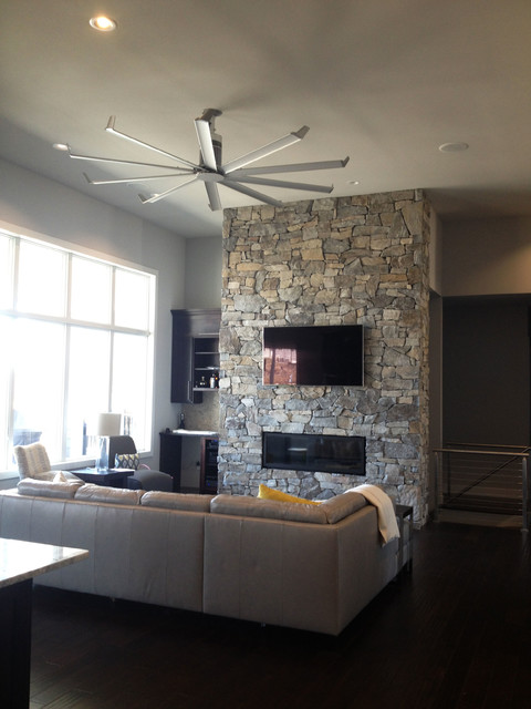isis ceiling fan contemporary family room louisville by big ass fans. Black Bedroom Furniture Sets. Home Design Ideas