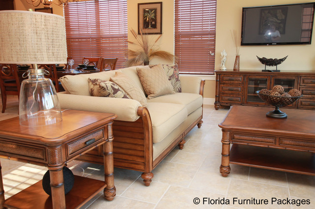 Island Feeltropical Family Room Orlando Florida Furniture Packages