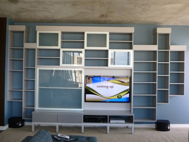 Italian Inspired Entertainment Center - Modern - Family Room - denver ...